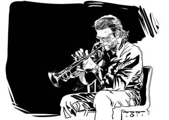 Chet Baker em ilustração de Gilmar Fraga