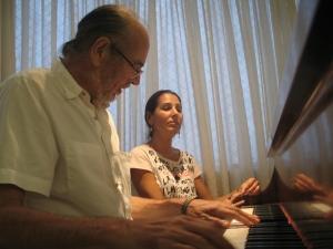 Pai e filha em 2009 (Foto: Acervo Geraldo Flach)