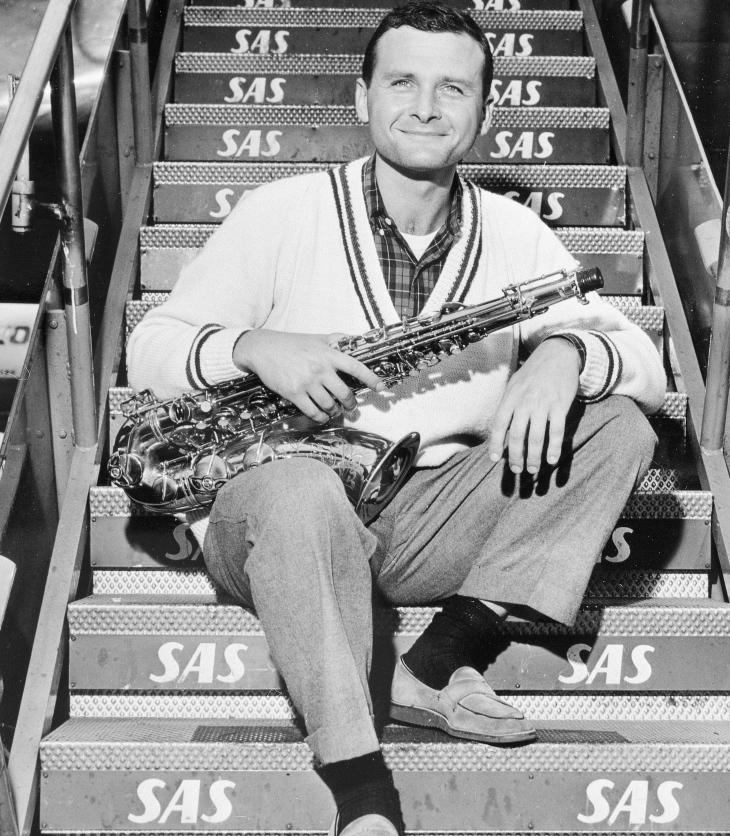 1958, em Copenhague: Getz tentando recomeçar e fugindo das drogas (Foto: SAS Scandinavian Airlines/Domínio público/Wikimedia Commons)