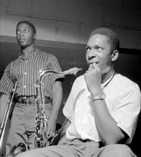 Curtis Fuller e John Coltrane (Foto: Reprodução da contracapa do disco Blue Train)